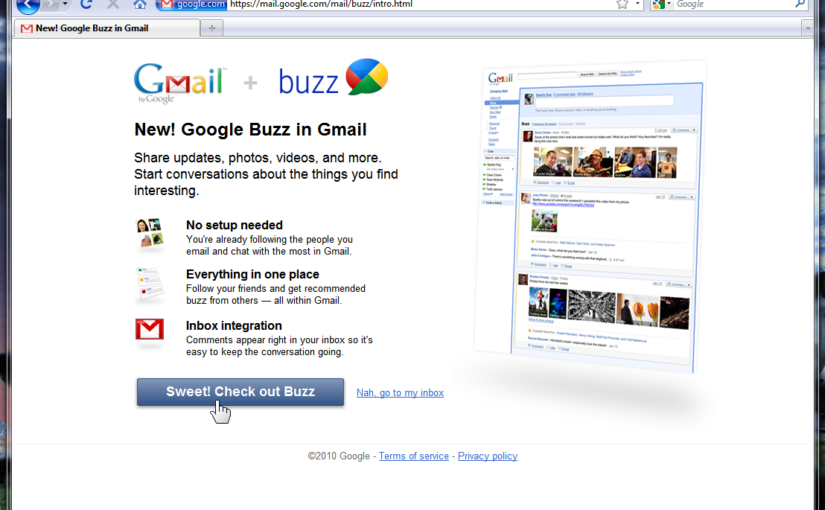 New Google Feature: Google Buzz