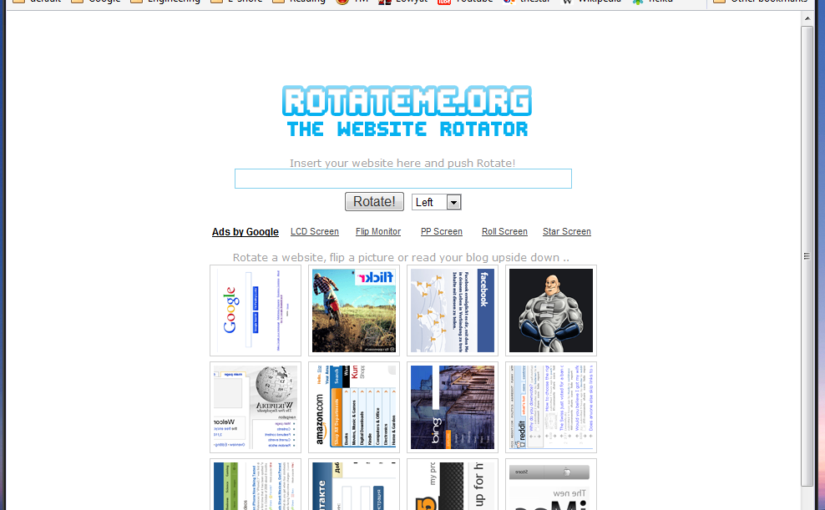 rotateme.org Nice Website to Rotate Webpage