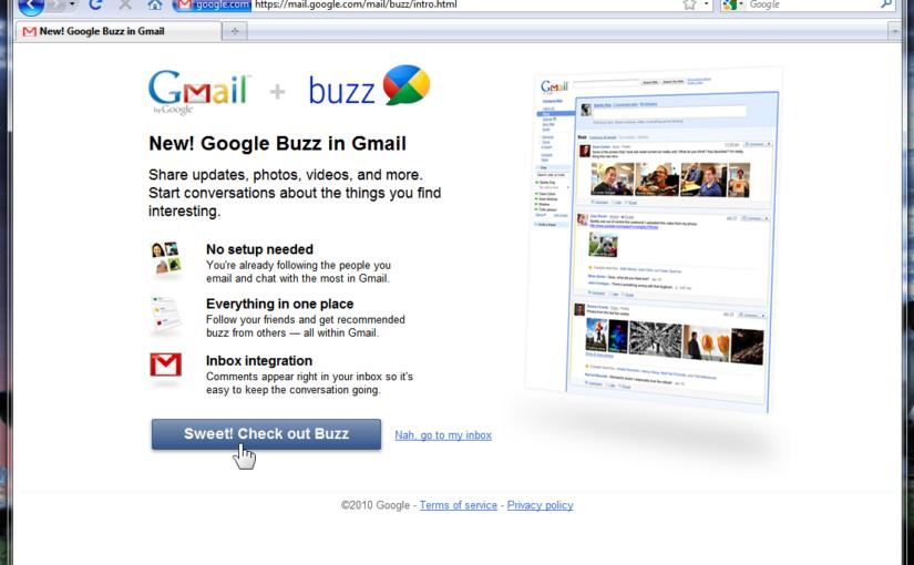 New Google Feature: Google Buzz